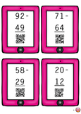 Two Digit Subtraction (with trading) with QR Code Answers