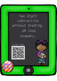 Two Digit Subtraction (without trading) with QR Code Answers