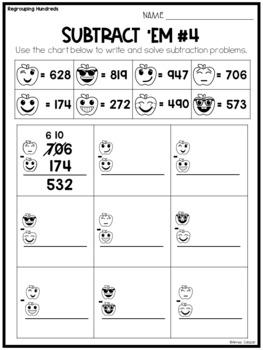 Two-Digit & Three-Digit Addition & Subtraction Worksheets BUNDLE