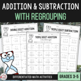 Addition & Subtraction with Regrouping Activities