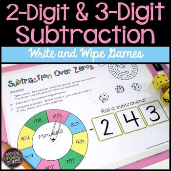 2-Digit Subtraction & 3-Digit Subtraction (Self-Checking W