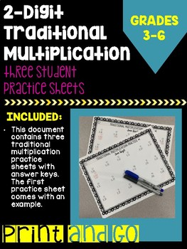 Two-Digit Traditional Multiplication Practice