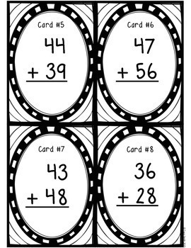 Two-Digit With Regrouping Task Cards - Great for SCOOT!  Grades 2-4