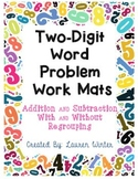 Two-Digit Word Problem Work Mats