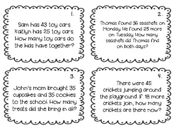 Two-Digit Addition Word Problems by Marie Williams | TpT
