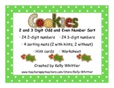 Two Digit and Three Digit Odd and Even Number Cookie Sort