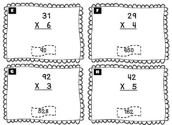 Two-Digit by One-Digit Multiplication Scavenger Hunt