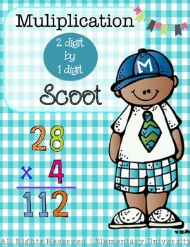 Two Digit by One Digit Multiplication Scoot.  VA SOL & CCSS
