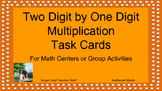 Two Digit by One Digit Multiplication Task Cards