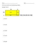 Two Digit by Two Digit Area Model Worksheet