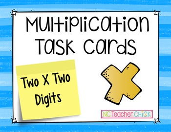 Multiplication Task Cards {Two by Two Digit}