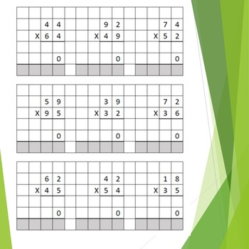 Two Digit by Two Digit Multiplication/Graph Paper: F9 Makes New Worksheet