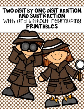 Two Digit with One Digit Addition and Subtraction Printables