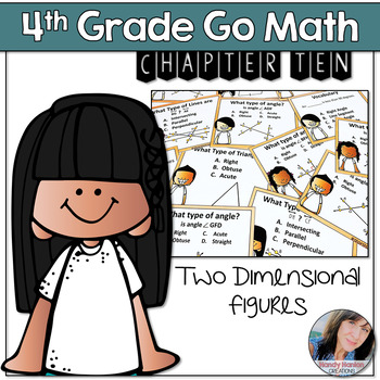 4th Grade Math Center Two Dimensional Figures Activity