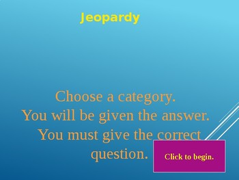 Two Dimensional Figures Jeopardy Game