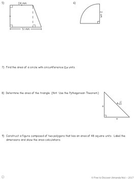 Area and Perimeter Notes and Practice (Differentiated)