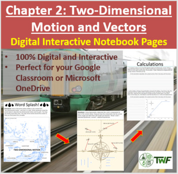 Two-Dimensional Motion and Vectors - Digital Interactive Notebook Pages