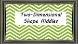Two-Dimensional Shape Riddle Task Cards