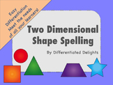 Two Dimensional Shape Spelling
