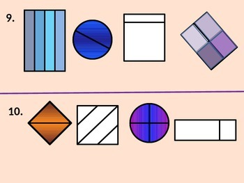Two-Dimensional Shapes.  Equal and Unequal Parts for Visual Learners