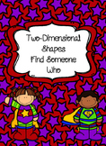 Two-Dimensional Shapes Find Someone Who
