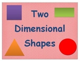 Two Dimensional Shapes Math Word Wall Word Poster