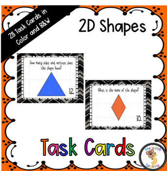 Two Dimensional Shapes Task Cards