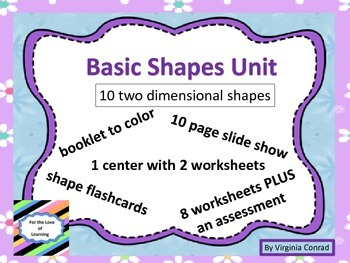 Two Dimensional Shapes Unit