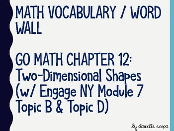 Two-Dimensional Shapes Vocabulary