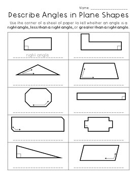 Two-Dimensional Shapes Worksheets - Third Grade Go Math!