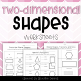 Two-Dimensional Shapes Worksheets