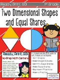 Two-Dimensional Shapes and Equal Shares Ready, Print, Go! Math Centers