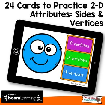 Two-Dimensional Shapes and Their Attributes Boom Cards Distance Learning (TEKS)
