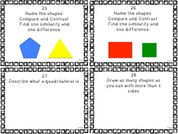 Two-Dimensional Shapes task cards