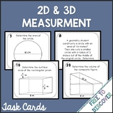 2D and 3D Measurement Task Cards Activity