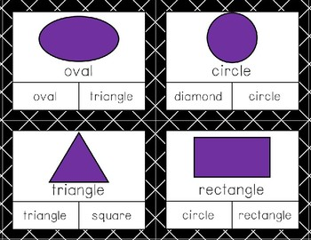 Two-Dimensional and Three-Dimensional Shape Identification Clip Cards Freebie
