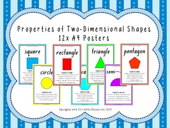 Two Dinemsional Shape Properties Posters