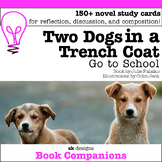 Two Dogs in a Trench Coat Discussion Question Cards Writing Prompts Novel Study