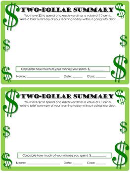 Two Dollar Summary