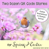Two Dozen Spring & Easter QR Code StoryCards & Clickable On-Screen Reading Menus