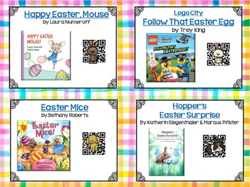 Spring QR Code StoryCards & On-Screen Reading Menus  - Distance Learning
