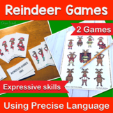 Christmas Speech Therapy Using Precise Expressive Language Reindeer Games