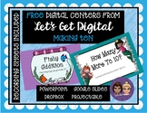 Two FREE INTERACTIVE  Digital Task Card Centers: MAKING 10