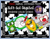 Two FREE INTERACTIVE  Digital Task Card Centers: Reading C