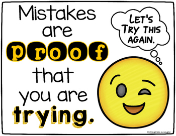 Two FREE Growth Mindset Posters - Emoji Style