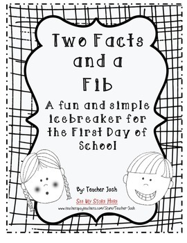 Two Facts and A Fib {Icebreaker for the First Day or School}