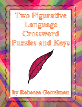 Two Figurative Language Crossword Puzzles