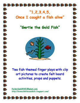 Two Fish Themed Finger Play Songs