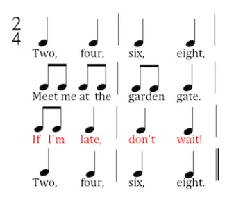 Two Four Six Eight - a Music Lesson for Rhythm and Melody