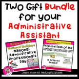 Two Gift BUNDLE for your ADMINISTRATIVE ASSISTANT